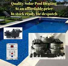 SOLAR POOL HEATING/HEATER KIT 28M2 WITH PUMP & CONTROLLER FOR SWIMMING POOL/SPA