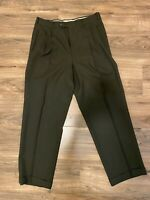 Vintage 1960s Rockabilly Wool Crepe Drop Loop Trousers Pants 33x29