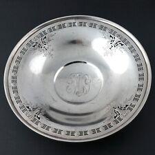 "Antique Grogan Company Sterling Silver Pierced 7"" Wide Plate, 189.7 Grams NR!"