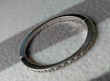 "BRIGHTON ""Diamond"" Silver Swarovski Crystal Magnetic Hinged Bracelet"