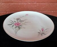 """Fine China of Japan Golden Rose Pattern with Pink Roses 10 1/4"""" Dinner Plate"""