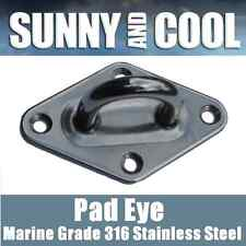 8MM 316 STAINLESS STEEL PAD-EYE FOR SHADE SAIL