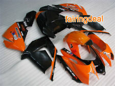 Fit for ZX10R 2004-2005 Injection Mold Fairing Plastics Set 04 05 Orange g02