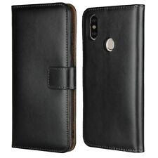 Genuine Leather Wallet Flip Case Cover For Xiaomi Mi A2 (Mi 6X)