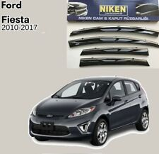 2x Delux CROMATO AUTO TARGA licenza Surround per Ford Fiesta Mk6 Mk5