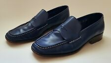 Cole Haan Men's Leather Penny Loafer 6 B Blue Made in Italy