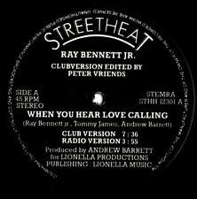 "12"" Boogie - RAY BENNETT Jr. when you hear love calling 1985 REISSUE"