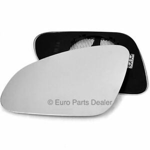 Passenger side Clip Heated Convex wing mirror glass for Vauxhall ASTRA J 10-15