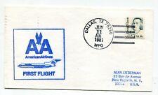 American Airlines First Flight Dallas Texas - Baton Rouge Louisiana - 1981