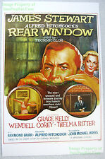 Vintage Rear Window James Stewart Alfred Hitchcock Grace Kelly Lobby Card Poster