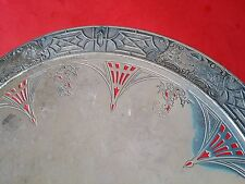 RARE ANTIQUE BENEDICT SILVER PLATED CHINESE CHIPPENDALE FOOTED PERIOD PLATE 1001