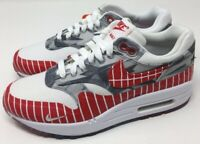 New Nike Air Max 1 Latino Heritage Red White Grey AH7740-100 Size 4