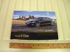 2009 Mercedes-Benz S Class Car Brochure Hardbound Dealer Catalog