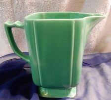 Rare Vintage Homer Laughlin Riviera Green Harlequin Jug