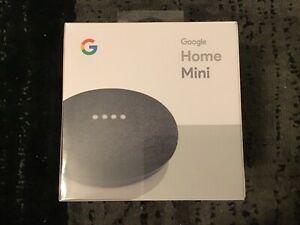 Google Home Mini Smart Assistant - Charcoal (GA00216-US) New