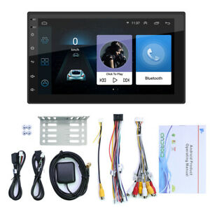 """2 Din Android 10.1 Car Radio 7"""" 2.5D Stereo GPS WiFi USB Universal Video Player"""