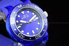 Invicta Men's 51mm Pro Diver Triple blue Tone Blue dial Anatomic Silicone Watch