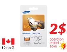 Samsung micro SD card 128 GB w/adapter