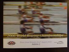 FISA World Rowing Championships, Eton, Great Britain, 2006 - Bulletin 2