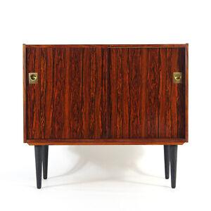Retro Vintage Danish Rosewood & Brass Sideboard Cabinet 50s 60s 70s Mid Century