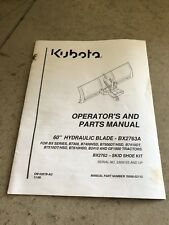 "70060-02115, Kubota 60"" Hydraulic Blade Manual, BX2763A Blade Manual"