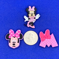 Pink Minnie Mouse Shoe Charms