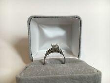 Art Deco Diamond Engagement Ring - 900 Platinum Round Solitaire Vintage .56 ctw