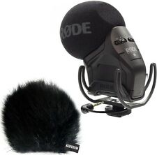 Rode SVMPR Stereo Videomic Pro Rycote Kamera-Mikrofon + KEEPDRUM WSBK Windschutz