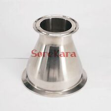 "102mm to 57mm Pipe OD 4"" to 2.5"" Tri Clamp SUS304 Sanitary Reducer Homewbrew"