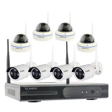 8CH HD720P IP Camera Kit Completi Videosorveglianza 8 Telecamere TVCC Wireless