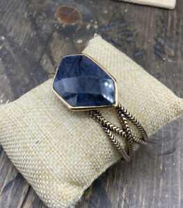 Barse Tulon Cuff Bracelet- Dumortieurite & Bronze- New With Tags