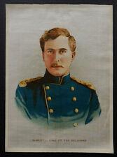 ALBERT I KING of the BELGIANS 1916 Anon Silk RARE Seven Button Variation