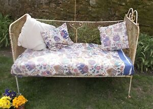 Antique cast iron child's bed, cot, day bed, sofa, shabby,  French