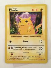 Pikachu - No. 58/102 Base Set Nintendo WotC Shadowless Card - Pokemon TCG 1999