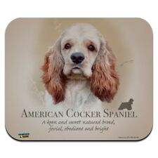 American Cocker Spaniel Dog Breed Low Profile Thin Mouse Pad Mousepad