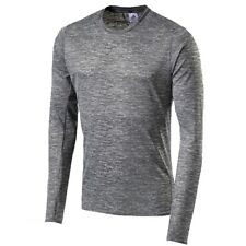 adidas Supernova Mens Grey Crew Neck Long Sleeve Sports Running Shirt Top M