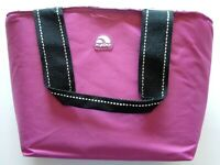Igloo Insulated Pink Fabric 6 Can Mini Tote Cooler Lunch Bag Excellent Condition