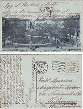# TORINO: GIARDINI DI PORTA NUOVA E VIA ROMA    1918