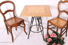Eleganter Schachtisch Schmideisen Spieltisch Beistelltisch Rauchtisch Cáfe Tisch