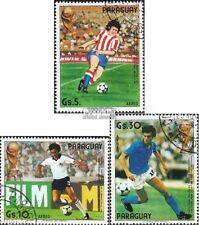 Paraguay 3842-3844 (kompl.Ausg.) gestempelt 1985 Fußball-WM ´86