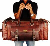 Genuine Leather Overnight Travel Duffle Overnight Weekender Bag Luggage Carry On