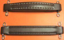1 Vintage Leather Look Brown Amp Handle: With Footman Loops & Stainless Screws