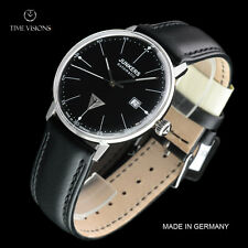 Junkers 40mm Bauhaus German Made Swiss SW200 Automatic Leather Strap Watch