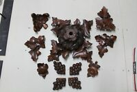 ANTIQUE RARE  VICTORIAN CEILING ARCHITECTURAL CARVED WOOD ELEMENT LIGHT ROSETTE