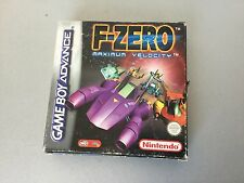 NINTENDO GAMEBOY ADVANCE F ZERO MAXIMUM VELOCITY FULL COMPLETO PAL