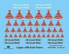 [FFSMC Productions] 1/32 Decals Logos HB Team Audi (with metallic gold)