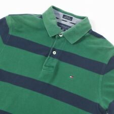 Vintage TOMMY HILFIGER Striped Polo Shirt | Mens M | Retro Wavey Nineties