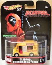 HOT WHEELS 2018 RETRO ENTERTAINMENT MARVEL DEADPOOL CHIMICHANGA TRUCK