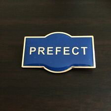 PREFECT Metal School Badge / Pin BLUE Enamel