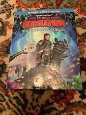 HOW TO TRAIN YOUR DRAGON THE HIDDEN WORLD BLU-RAY+DVD+DIGITAL W/ SLIPCOVER NEW
